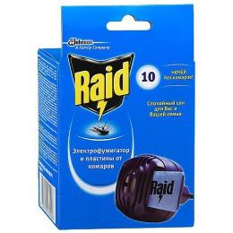 Raid фумигатор от комаров, 1 шт