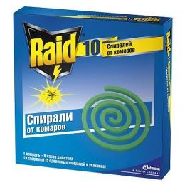 Raid спираль от комаров, 10 шт