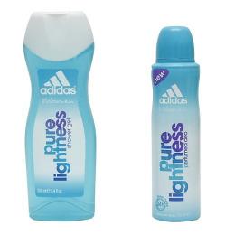 """Adidas набор """"Pure Lightness"""" женский, део спрей 150 мл + гель для душа 250мл"""