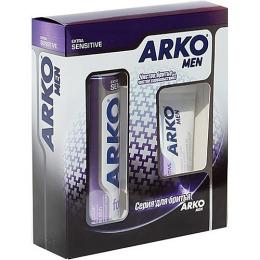 """Arko набор пена для бритья 200 мл + бальзам после бритья """"Extra Sens"""""""