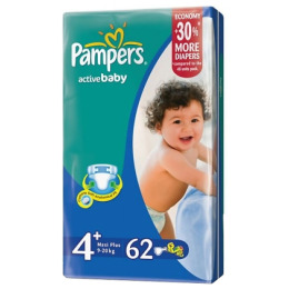 Pampers Active Baby 4+ (9-16 кг)