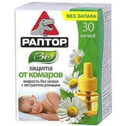 """Раптор жидкость """"от комаров"""" 30 ночей BIO с экстрактом ромашки, 1 шт"""
