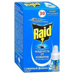 """Raid жидкость """"30 ночей"""" от комаров, 1 шт"""