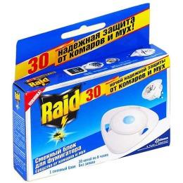 """Raid блок """"30 ночей"""" против мух и комаров, 1 шт"""
