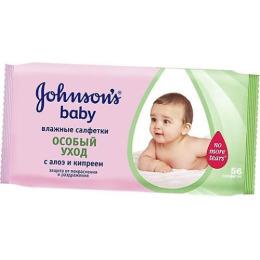 "Johnson`s baby салфетки ""Особый уход"" с алое и кипреем"