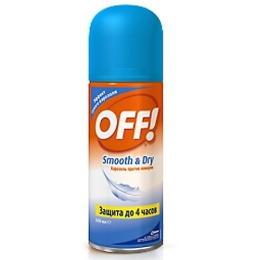 "Off! аэрозоль ""Smooth&Dry"" от комаров, 100 мл"
