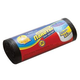 Фрекен Бок пакет LD для мусора 35 л, черный 50 х 60 см