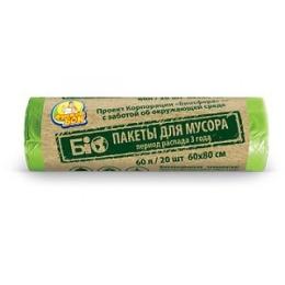 "Фрекен Бок пакет для мусора ""Био"" 60 л, зеленый 60 х 80 см"