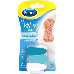 """Scholl сменные насадки для электрической пилки """"Velvet Smooth"""" для ухода за ногтями"""