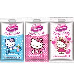 "Smile влажные салфетки ""Hello Kitty"" для всей семьи"