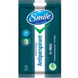 """Smile влажные салфетки """"Smile"""" антиперспирант с натуральным экстрактом для мужчин"""
