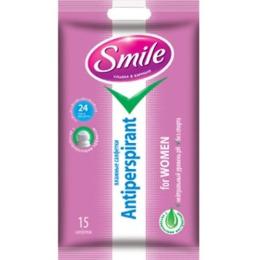 Smile влажные салфетки антиперспирант с натуральными экстрактами для женщин