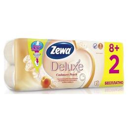 "Zewa бумага туалетная ""Делюкс"" 3-ех слойная с ароматом персика"