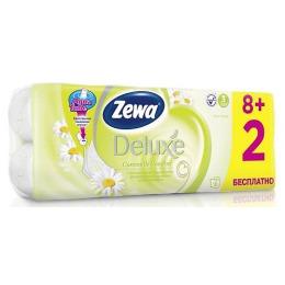 """Zewa бумага туалетная """"Делюкс"""" 3-ех слойная с ароматом ромашки"""