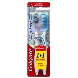 """Colgate зубная щётка """"Макс Блеск """", средняя 1+1"""
