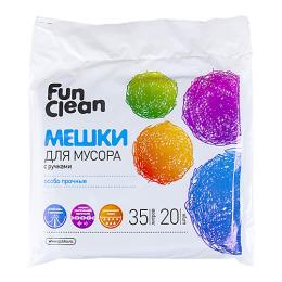 Fun Clean мешки для мусора с ручками черные, 35 л