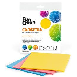 Fun Clean салфетка для влажной уборки супервпитывающая с пропиткой
