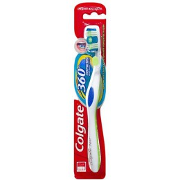 """Colgate зубная щетка """"360 Суперчистота всей полости рта"""" средняя жесткость, 1 шт"""