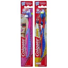 """Colgate зубная щетка """"Барби и Спайдермен"""" детская супермягкая, 1 шт"""