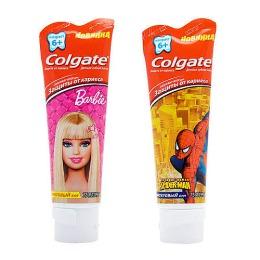 """Colgate зубная паста """"Барби, Спайдермен"""" для детей, 75 мл"""