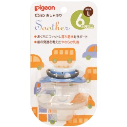 "Pigeon пустышка ""Машинка"" 6+ мес (размер L), 1 шт"