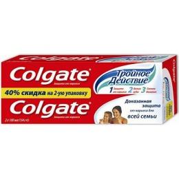 Colgate Зубная паста Тройное действие 100мл 1+1