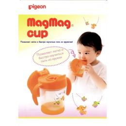 "Pigeon чашка-поильник ""Mag Mag"" с трубочкой с 8 мес., 200 мл"