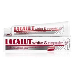"""Lacalut Зубная паста """"Уайт энд Рипейр"""", 50мл"""