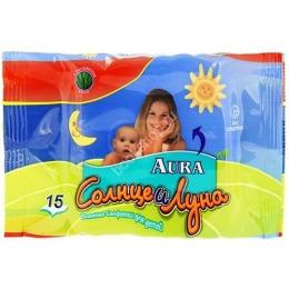 Солнце и Луна влажные салфетки для детей с экстрактом алоэ