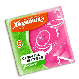 Хозяюшка Мила салфетка бытовая вискоза 30 х 38 см