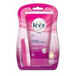 Veet крем для депиляции в душе с ароматом бархатной розы и эфирными маслами