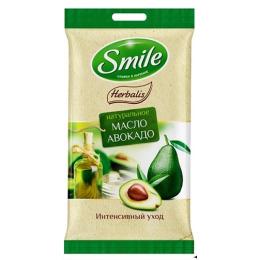 """Smile влажные салфетки """"Herbalis"""" с маслом авокадо"""
