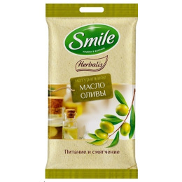 "Smile влажные салфетки ""Herbalis"" с маслом оливы"