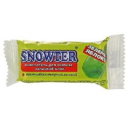"""Snowter очиститель для унитаза """"Зеленое яблоко"""" запасной блок"""