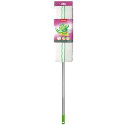 """Paclan швабра """"Green Mop"""" с плоской насадкой из микрофибры и телескопической ручкой"""