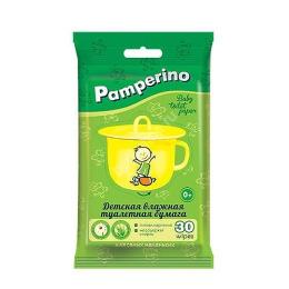 Pamperino бумага туалетная детская влажная, 30 шт
