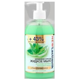 Lactimilk жидкое мыло увлажнение кожи рук с био-гелем Алоэ