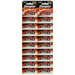 "Energizer батарейка алкалиновая ""Power E92"" тип AAA, 20 шт"