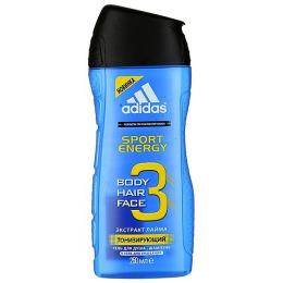 "Adidas гель для душа и шампунь ""Sport Energy""  для мужчин, 250 мл"