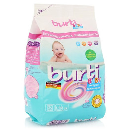 """Burti концентрированный стиральный порошок  """"Compact Baby"""" для детского белья 0.9 кг + салфетки 15 шт"""