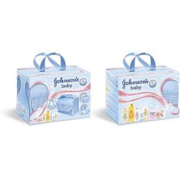 "Johnson`s baby набор детский ""Мамина сумка"" голубая"