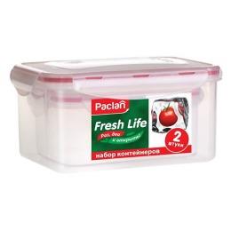 Paclan набор прямоугольных контейнеров для продуктов 0,4 л. и 1,1 л.