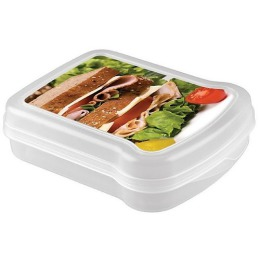 Бытпласт контейнер для бутербродов с декором, 170*130*42 мм.