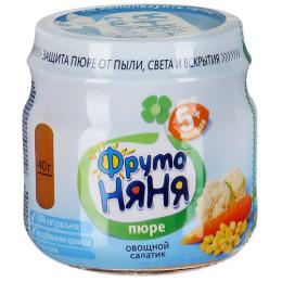 """Фруто Няня пюре """"Овощной салатик"""" для детей"""