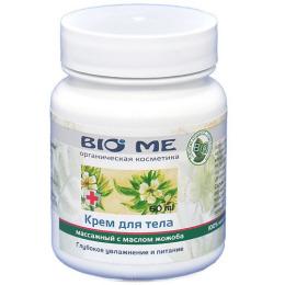 Bio Me крем для тела массажный с маслом жожоба