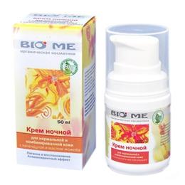 Bio Me крем ночной для нормальной и комбинированной кожи с календулой и маслом жожоба