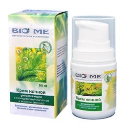 Bio Me крем ночной увлажняющий с гиалуроновой кислотой и маслом авокадо