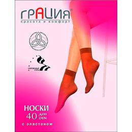 Грация носки женские 40d с эластаном, телесные, 2 пары