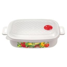 Бытпласт емкость для холодильника и микроволновой печи с декором, 1,6 л.