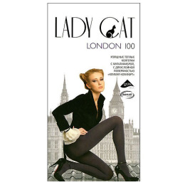"""Lady Cat колготки """"London 100"""" черные"""
